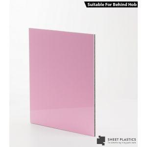3mm Baby Pink Aluminium Composite Sample 150 X 150mm