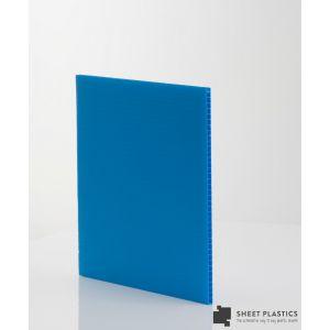 4mm Blue Fluted  Polypropylene 1220 X 610