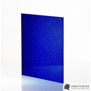 3mm Dark/Light Blue Shimmer Acrylic Sheet Cut To Size