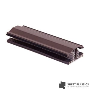 Snapdown Glazing Bar 4m Brown 25mm-35mm