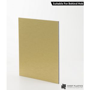 3mm Brushed Gold Aluminium Composite Cut To Size