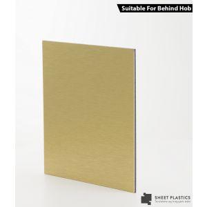 3mm Brushed Gold Aluminium Composite Sample 150 X 150mm