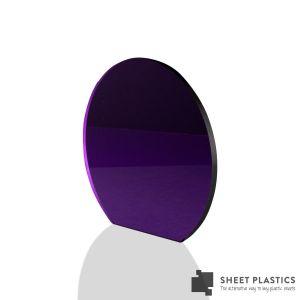 3mm Purple Tinted Acrylic Disc Bespoke Size -