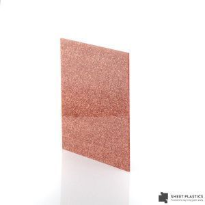3mm Copper Glitter Acrylic Sheet Cut To Size