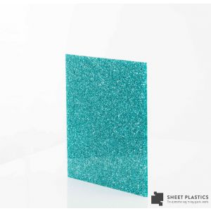 3mm Ice Blue Glitter Acrylic Sheet Cut To Size