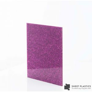 3mm Pink Glitter Acrylic Sheet Cut To Size
