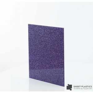 3mm Purple Glitter Acrylic Sheet Cut To Size