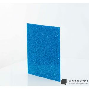 3mm Royal Blue Glitter Acrylic Sheet Cut To Size