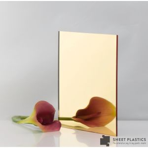 3MM GOLD ACRYLIC MIRROR CUT TO SIZE