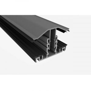 3000MM Grey PVC Glazing Bar