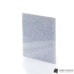 3mm Holographic Glitter Acrylic Sheet Cut To Size