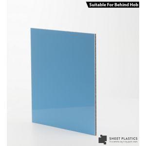 3mm Light Blue Aluminium Composite Sample 150 X 150mm