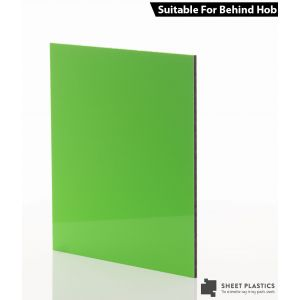 3mm Lime Green Aluminium Composite Sample 150 X 150mm