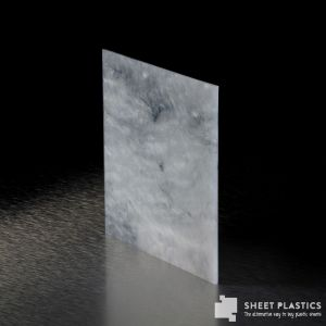 3mm Black & White Marble Acrylic Sheet Cut To Size