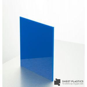 3mm Mid Blue Acrylic Sheet Cut To Size