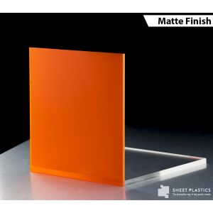 3mm Orange Frosted Acrylic Cut To Size