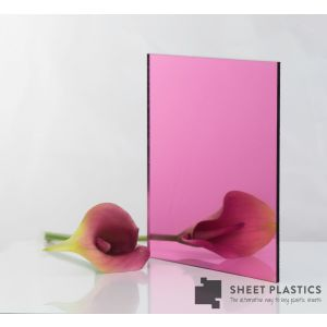 3MM PINK ACRYLIC MIRROR CUT TO SIZE