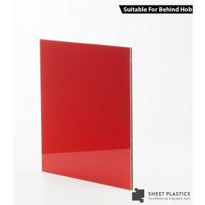 3mm Red Aluminium Composite Sample 150 X 150mm