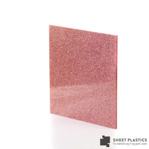 3mm Salmon Glitter Acrylic Sheet Cut To Size