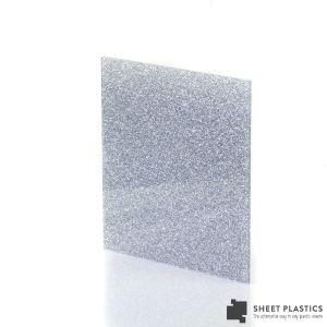 3mm Silver Glitter Acrylic Sheet Cut To Size