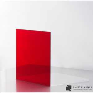 3mm Red Tint Acrylic Sheet Cut To Size