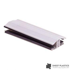 Snapdown Glazing Bar 3m White 25mm-35mm