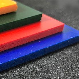 Orange foam PVC cut to size